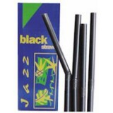 4 black drinking straws with an angle adjusting section