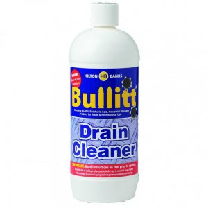full size 1 litre bottle of bullitt drain cleaner