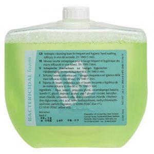 800ml yellow, bactericidal foam soap cartridge