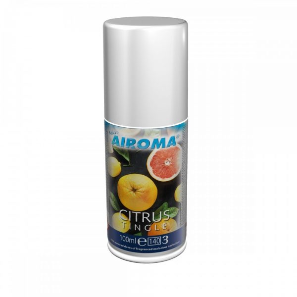 100ml can of airoma aerosol refill in the scent citrus tingle