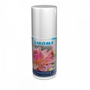 100ml can of airoma aerosol refill in the scent floral silk