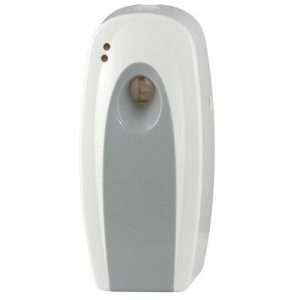 White and grey air freshener dispenser