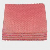 A stack of 4 red cleaning cloths