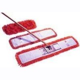 Dust beater set in red, including handle, frame and 40cm dust beater head