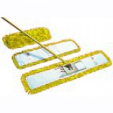 Dust beater set in yellow, including handle, frame and 40cm dust beater head