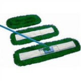 Dust beater set in green, including handle, frame and 60cm dust beater head