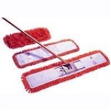 Dust beater set in red, including handle, frame and 60cm dust beater head