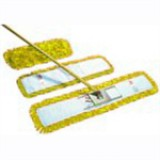 Dust beater set in yellow, including handle, frame and 60cm dust beater head