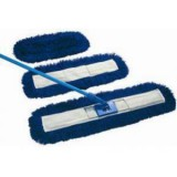 Dust beater set in blue, including handle, frame and 80cm dust beater head