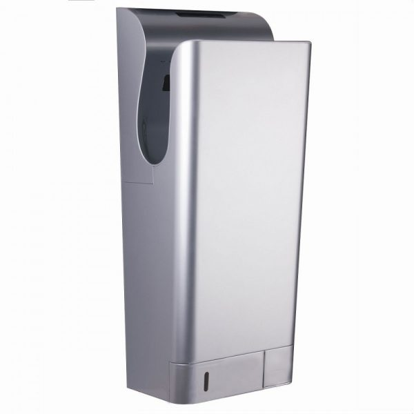 long silver airblade hand dryer