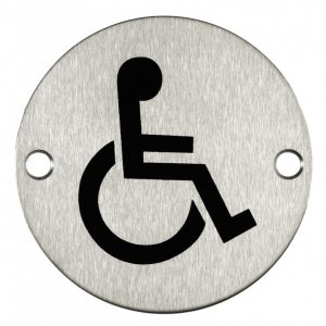 Disabled Signage Stainless Steel