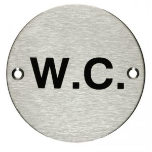 WC Signage Stainless Steel